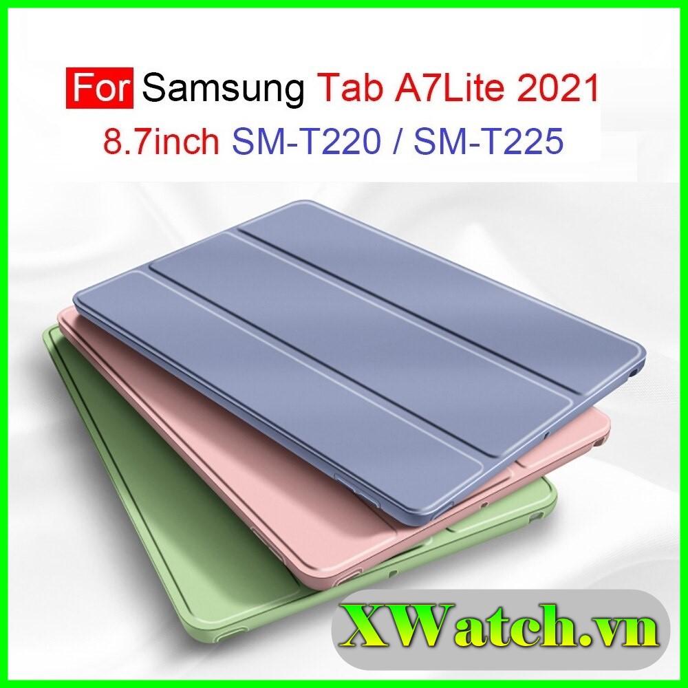 Bao Da Máy Tính Bảng Cho Samsung Galaxy Tab A7 Lite 2021 8.7inch T220 T225 Nắp Gập Từ Tính Chống Dấu Vân Tay