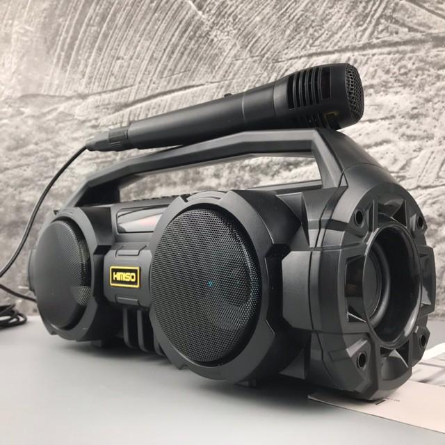 Loa Bluetooth Kimiso KM-S1, 2 Bass Cực Mạnh, Nhựa ABS Cao Cấp, Chất Lượng Âm Thanh Tốt, Chân Thực, có Tặng 1 Micro Có Dâ