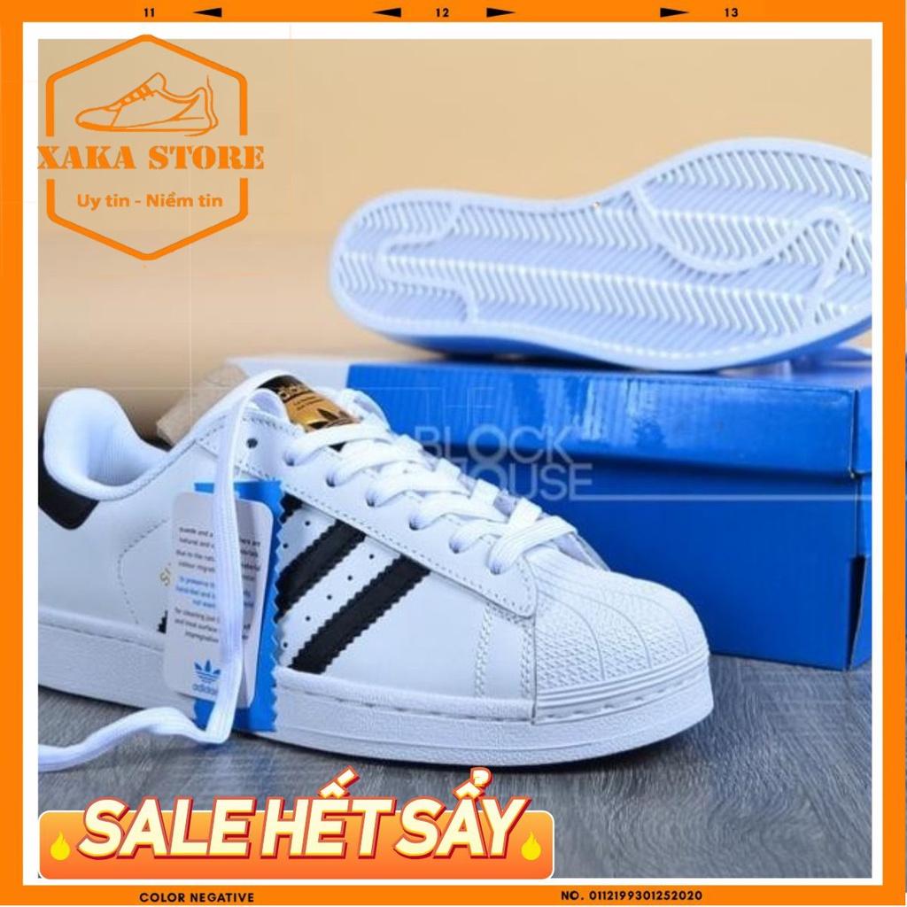 ✅[ Full Box + Bill ] 🌺 Giày adidas mũi trơn trắng 3 sọc 11 bản trung