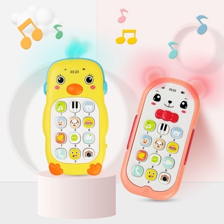 Baby Musical Phone Toy Early Education Cartoon Mobile Phone Teether with Sound Light Telephone Learning Toys Kids Infant