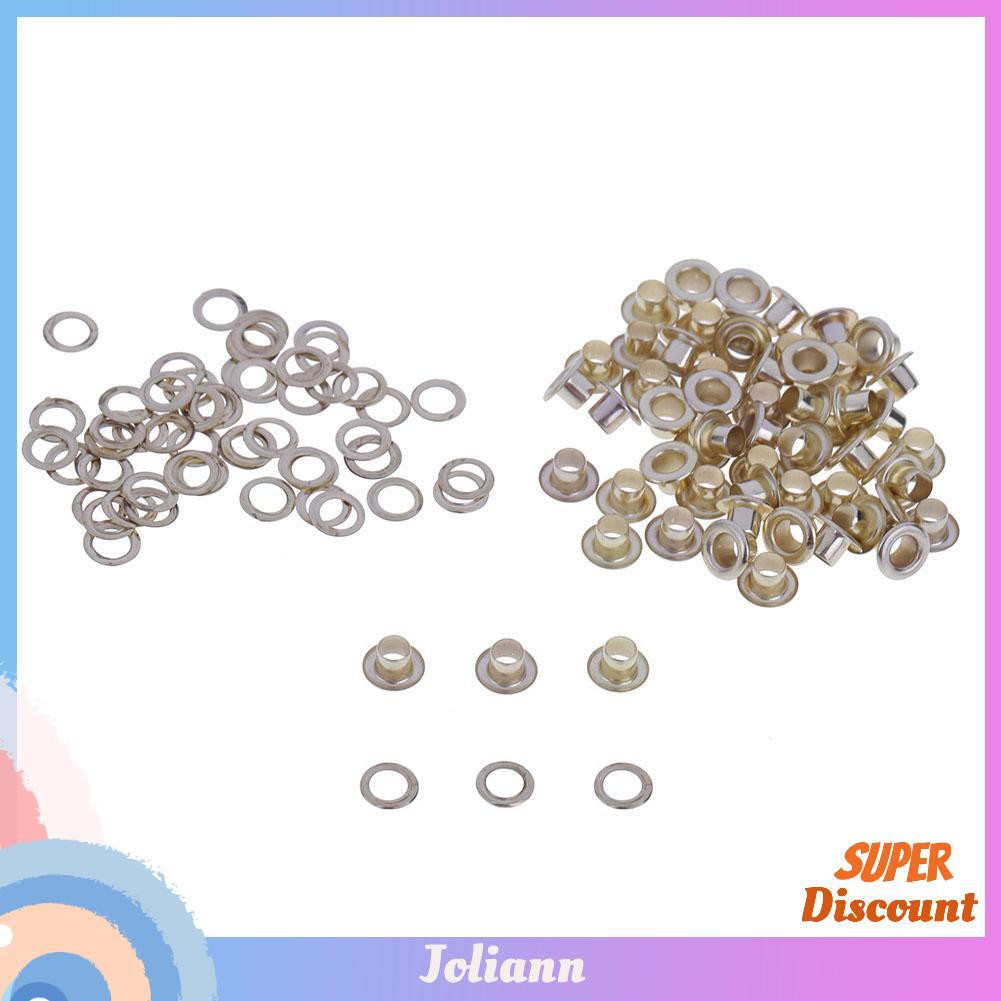 joliann1. 100sets Eyelet with Washer Leather Craft Repair Grommet 4mm 5mm 6mm 8mm