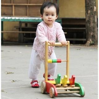 [Nhập mã TOYJUNE giảm 10K]xe gỗ tập đi cho bé