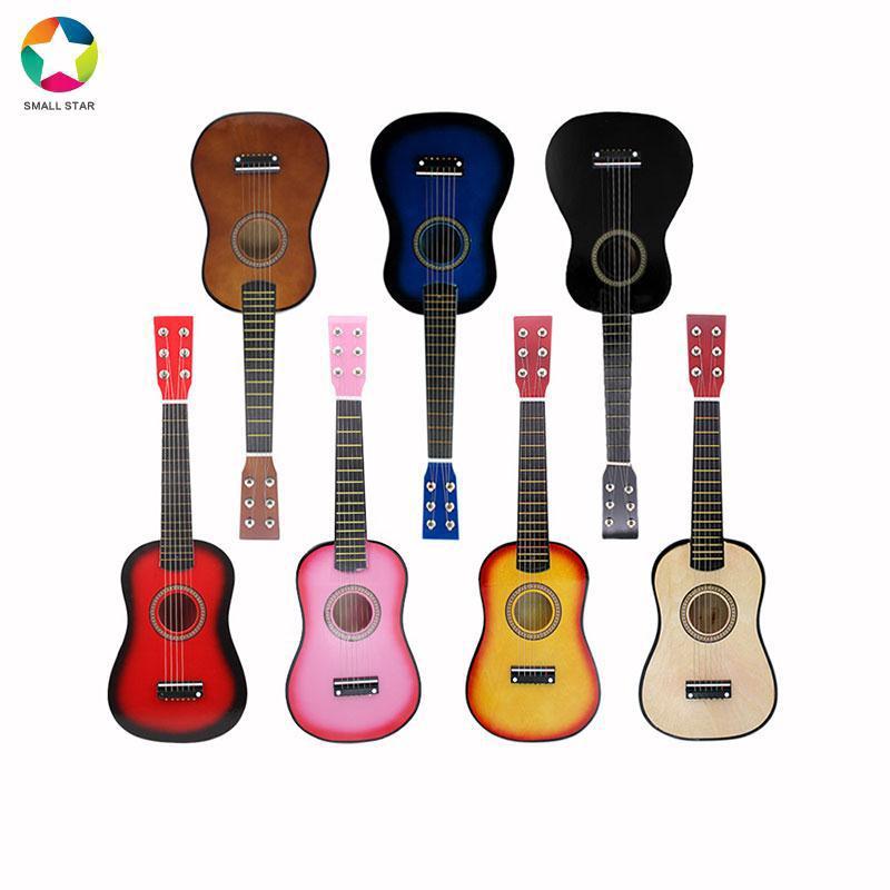 SAML Kids Guitar Acoustic Guitar 6 Strings Teaching Ukulele Gift Sturdy Intellectual