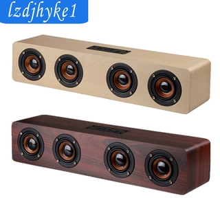 SafeTrip  Portable 380mm Soundbar Wooden Bluetooth Speaker Powerful