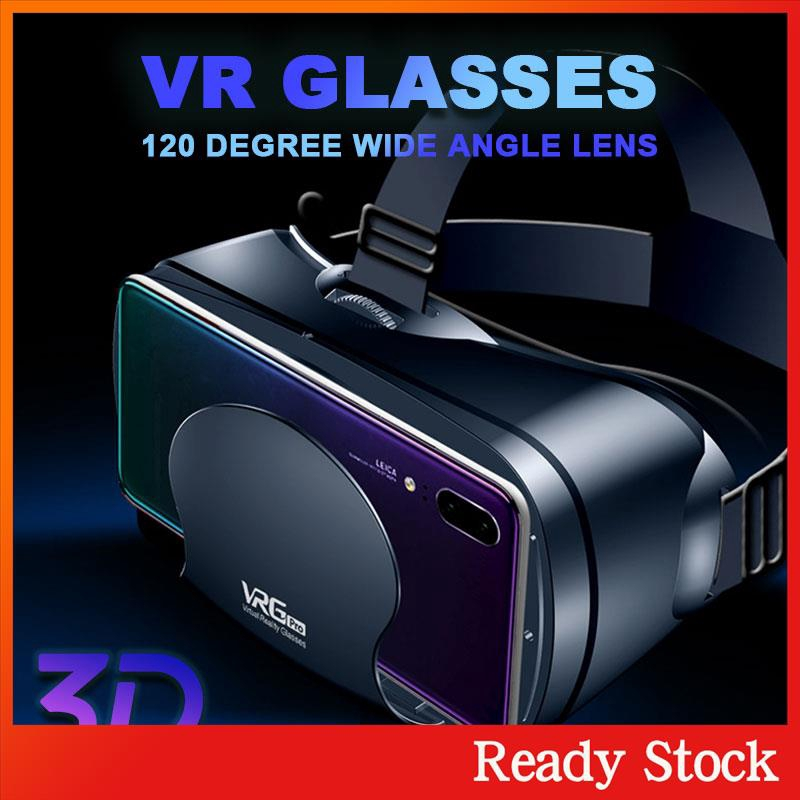 Ready Stock 3D VR Glasses VR Headset Glasses 5~7inch Smartphone VRG PRO Universal Movies