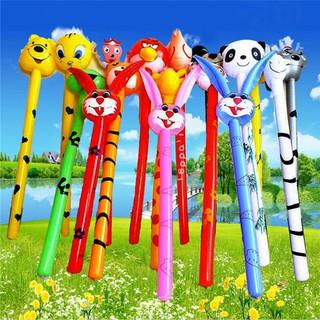 {buddi} Cartoon Inflatabel Animal Long Inflatable Hammer Stick Children Outdoor Toys{LJ}
