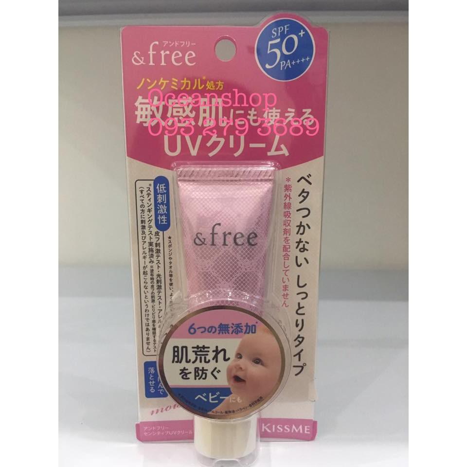 Kem chống nắng ISEHAN Kiss Me & Free Sensitive UV Cream SPF50+ PA++++ (Bill mua ảnh bên cạnh) - 2424078 , 1243209481 , 322_1243209481 , 599000 , Kem-chong-nang-ISEHAN-Kiss-Me-Free-Sensitive-UV-Cream-SPF50-PA-Bill-mua-anh-ben-canh-322_1243209481 , shopee.vn , Kem chống nắng ISEHAN Kiss Me & Free Sensitive UV Cream SPF50+ PA++++ (Bill mua ảnh bên