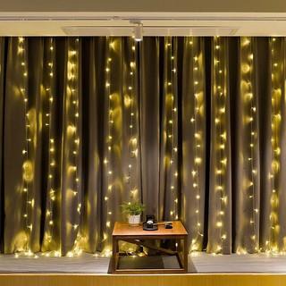 Hình ảnh Đèn LED Trang Trí Thả Mành Kiểu Rèm Mưa Nhiều Kích Thước 3m x 3m; 3m x 2,5m; 4m x 0,6m-1
