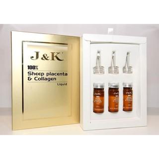 Serum tinh chất nhau thai cừu J&K 100% Sheep Placenta & Collagen – Chính hãng Úc