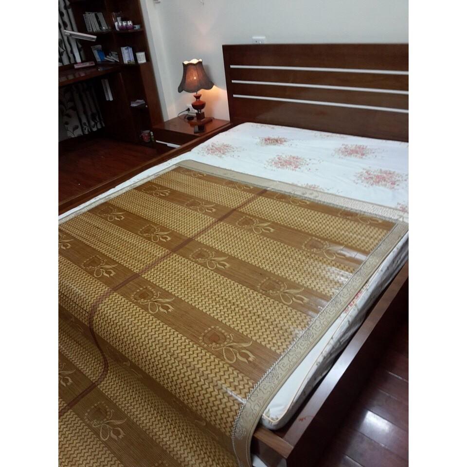 Chiếu trúc vân gỗ lụa , nằm 2 mặt