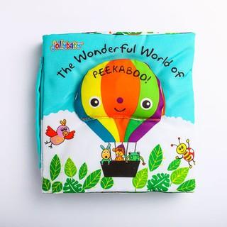 Sách Vải Ú Oà Jollybaby Chủ Đề Lật Mở The Wonderful World Of Peekaboo