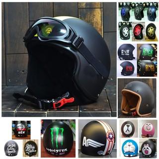 [ FLASH SALE ]  Combo Mũ Bảo Hiểm 3/4 Kèm Kính UV400 ❤️freeship❤️ Nhựa ABS Dẻo Độ Bền Cao - BH 6 Tháng Sử Dụng
