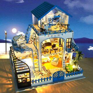 Mô hình nhà gỗ búp bê dollhouse DIY – TB15 Meet Love Sea