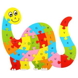 ℜ-ℜ Kids Baby Wooden Animal Puzzle Numbers Alphabet Jigsaw Learning Educational Toy