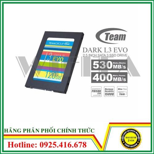 Ổ cứng SSD Team Group L3 Evo 120GB, hàng chính hãng bảo hành 36 tháng Giá chỉ 483.000₫