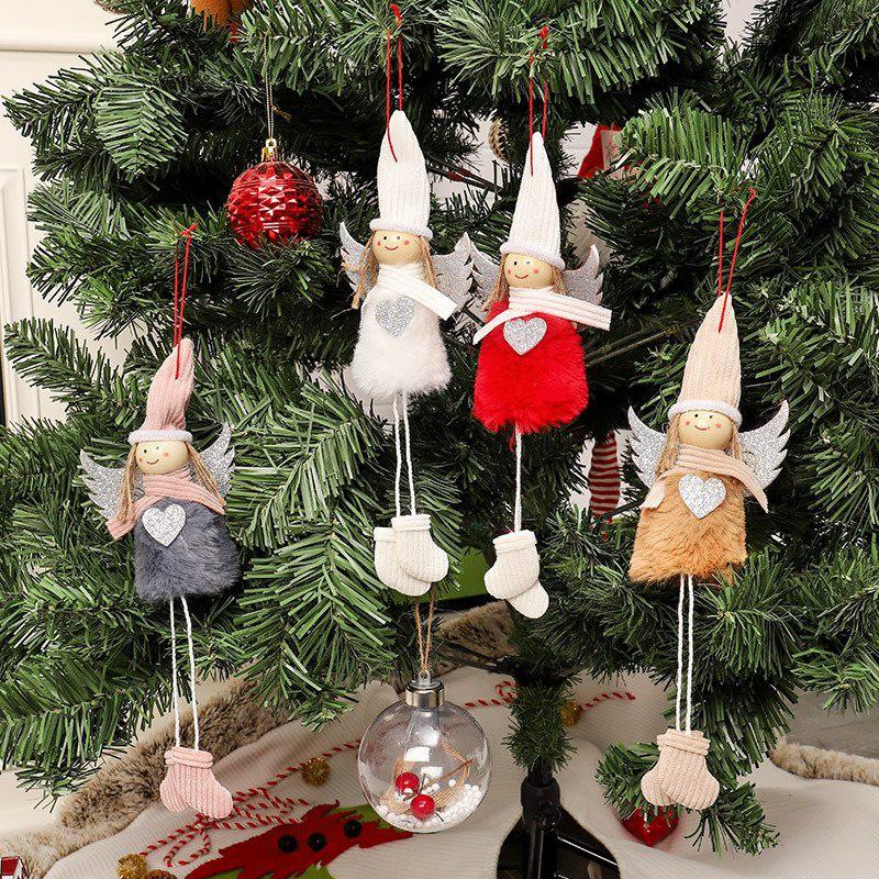 Plush Cute Angel Doll Pendants Christmas Tree Hange Decoration
