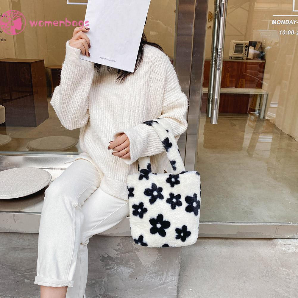 Túi đeo vai/ xách tay họa tiết hoa thời trang dành cho nữ