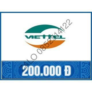 Thẻ Viettel 200k