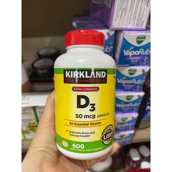 Viên Uống D3 Kirkland 50mcg 600 viên - Hàng Mỹ