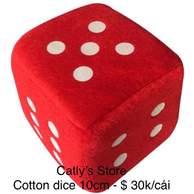 Cotton dice 10cm – Xí ngầu bông 10cm