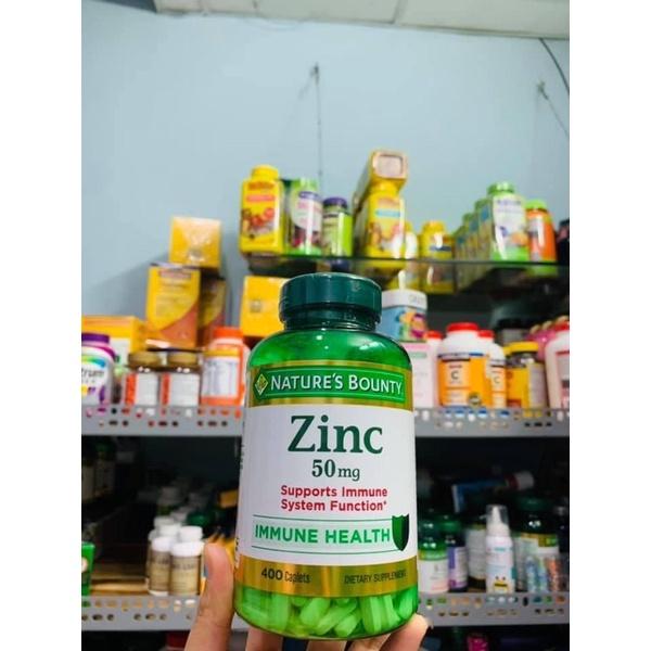 Viênuốngbổsungkẽm Nature's Bounty Zinc 50mg 400v