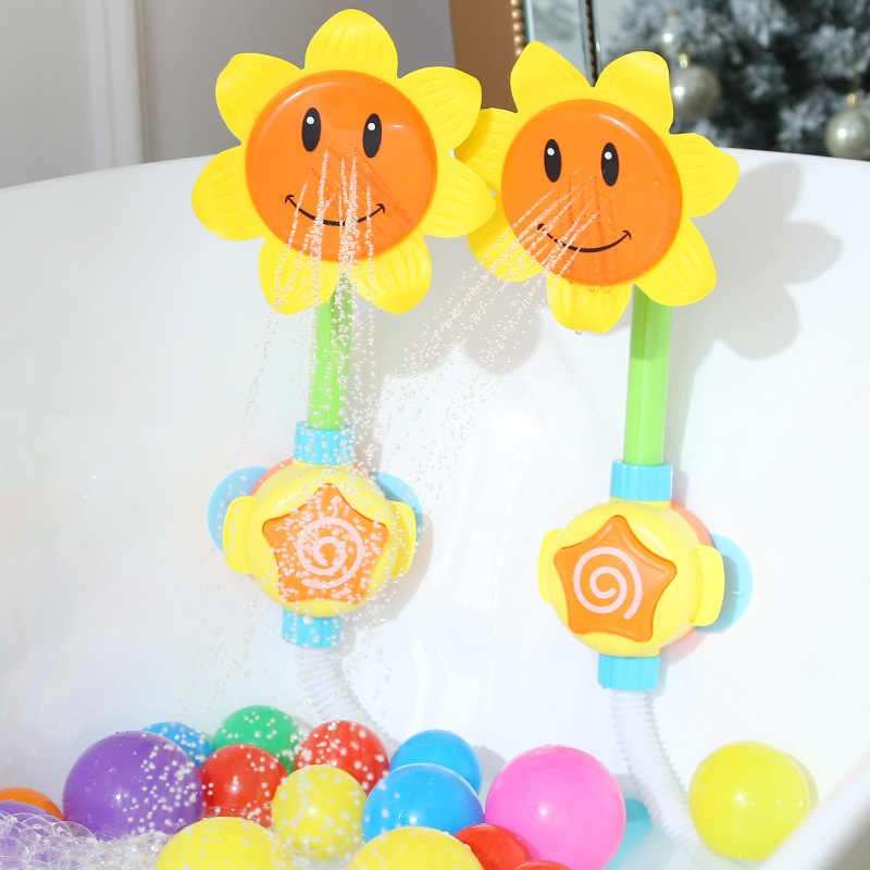 [Mã TOY5 giảm 10% đơn 50K] Đồ chơi vòi tắm cho bé hoa hướng dương, đồ chơi nhà tắm cho bé thỏa sức vui chơi