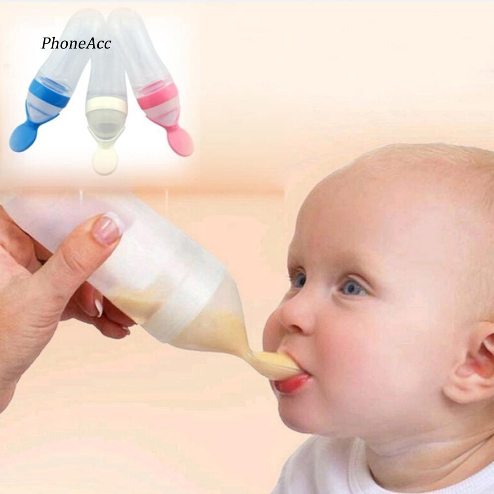 Bình gắn thìa đút đồ ăn chất liệu an toàn cho bé tiện lợi dễ dàng