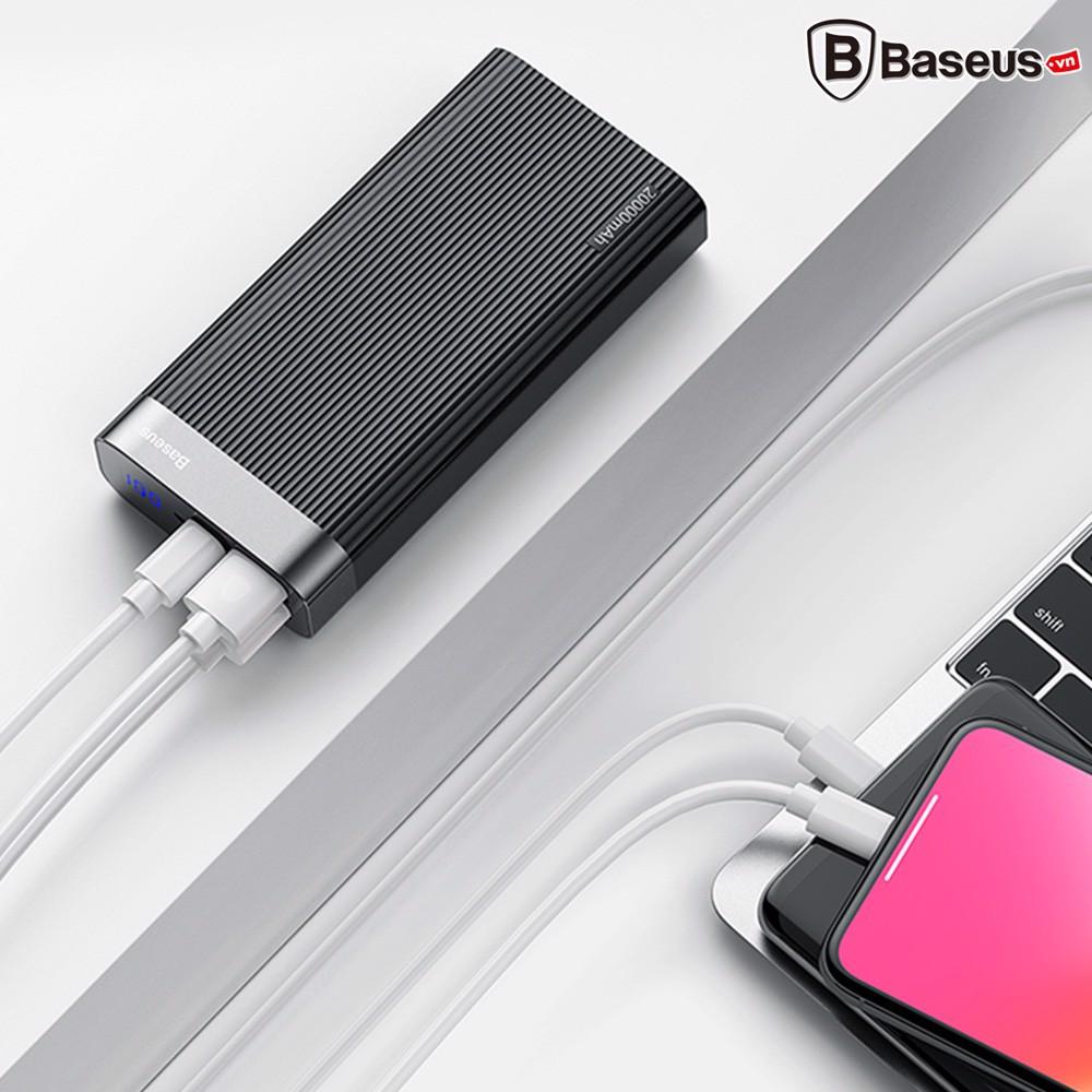 Pin sạc dự phòng sạc nhanh Baseus Parallel PD Power Bank 20,000mAh cho Smartphone/ Tablet/ Macbook