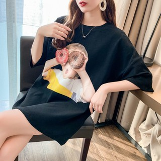 Hình ảnh Áo Thun Tay Lỡ Stone Dáng Unisex Form Rộng In Hình Baby Face Donut 100 Cotton TQ01-4