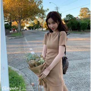 tay phối ngắn dây phong rút trơn Quốc màu cách Đầm Hàn