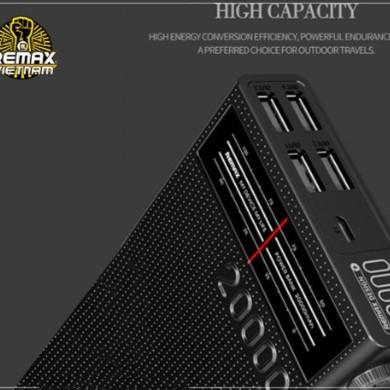 Pin Sạc Dự Phòng Remax RPP-102 20000mAh 4 cổng USB