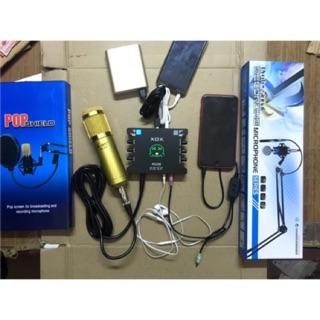 [Freeship toàn quốc từ 50k] COMBO bộ livestream AMI BM900 k10+ lọc âm + kẹp +bm900 + ma2 và tặng tai nghe phone