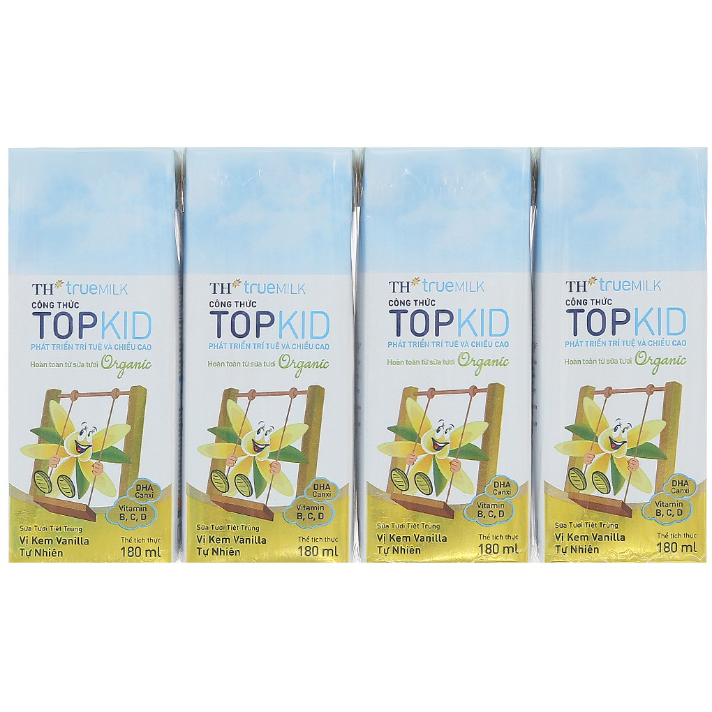 Sữa tươi tiệt trùng TH True Milk Topkid Organic vị Vani hộp 180ml (4 hộp) - 3487412 , 1337574802 , 322_1337574802 , 47000 , Sua-tuoi-tiet-trung-TH-True-Milk-Topkid-Organic-vi-Vani-hop-180ml-4-hop-322_1337574802 , shopee.vn , Sữa tươi tiệt trùng TH True Milk Topkid Organic vị Vani hộp 180ml (4 hộp)
