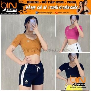 Aó Tập Gym Yoga Nữ Crop Cọc Tay Thể Thao Bin Sports A131 thumbnail