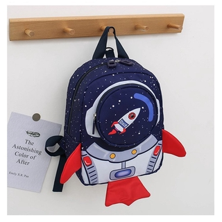 Kids Rockets Anti-Lost School Bags Cartoon High-Grade Backpack Kindergarten Bags Children's Gifts