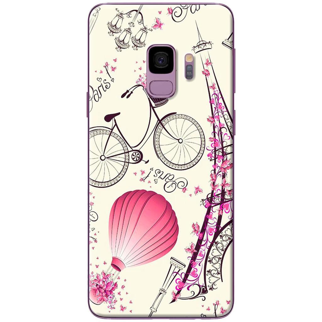 Ốp lưng nhựa dẻo Samsung S9, S9 Plus Paris lãng mạn