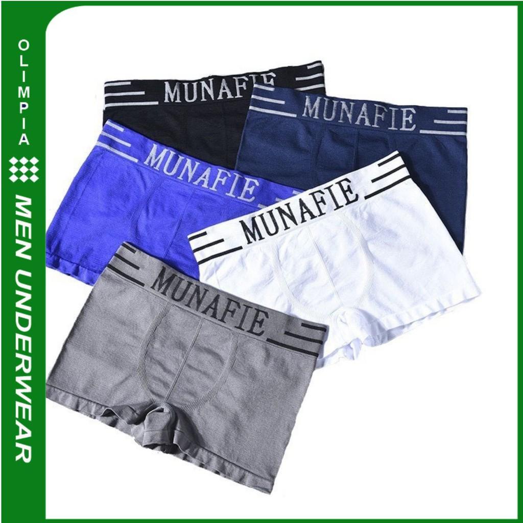 Quần lót boxer nam ✅ Quần lót nam Munafie ✅ Quần sịp đùi nam MN01