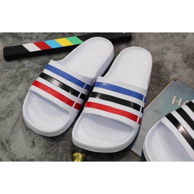 Dép đúc adidas trắng sọc màu đẹp size 38 -> 41