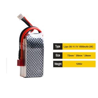 Pin Lipo 3s 11.1v 1500mAh 25c – Carbon skin