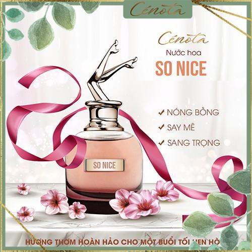 Nước hoa nữ hương thơm quyến rũ, lưu hương lâu, nước hoa nữ Cénota SO NICE 60ml - PG11 buny