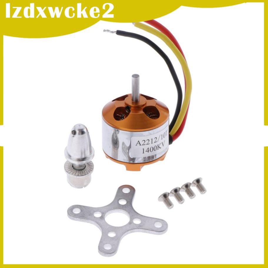 GamZine 2 Packs XXD A2212 1400KV Brushless Motor for Multirotor Airplane Drone Accs