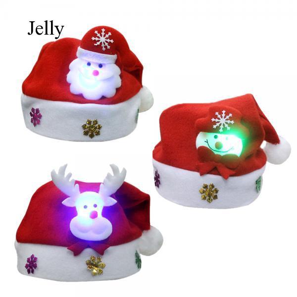3 mũ ông già Noel phát sáng cho bé j886