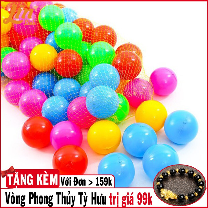 [MỚI]Túi 50 bóng nhựa trẻ em cho bé thoải mái vui chơi - đường kích 5cm