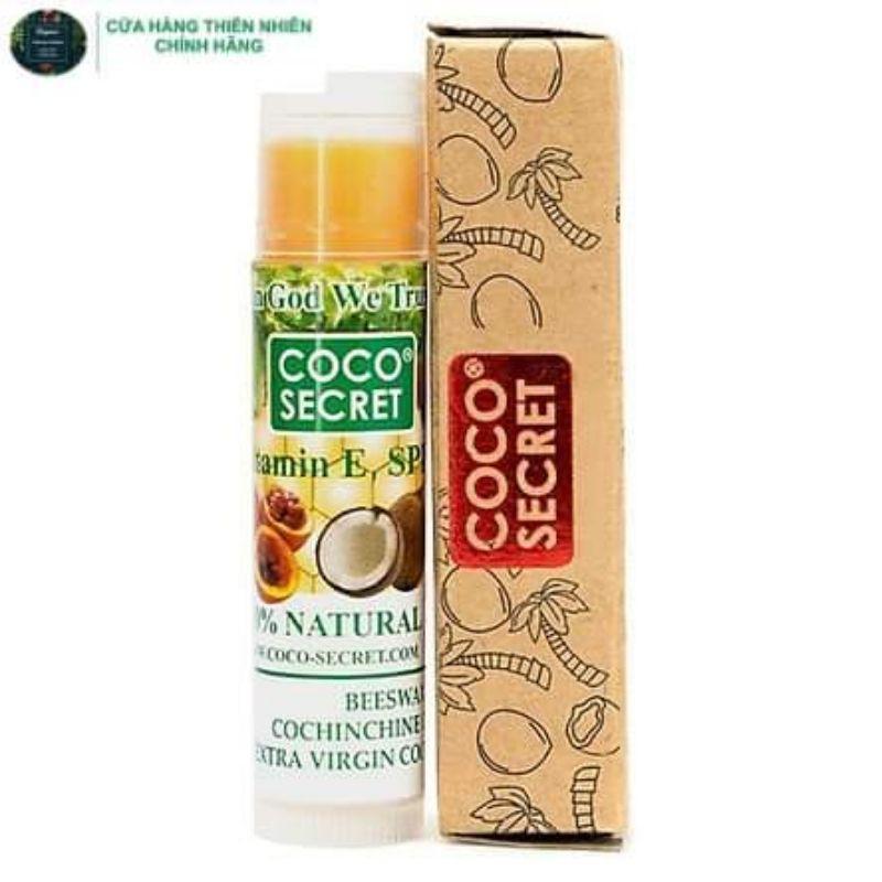 Son dưỡng môi dầu dừa sáp ong gấc & bạc hà thiên nhiên coco secret