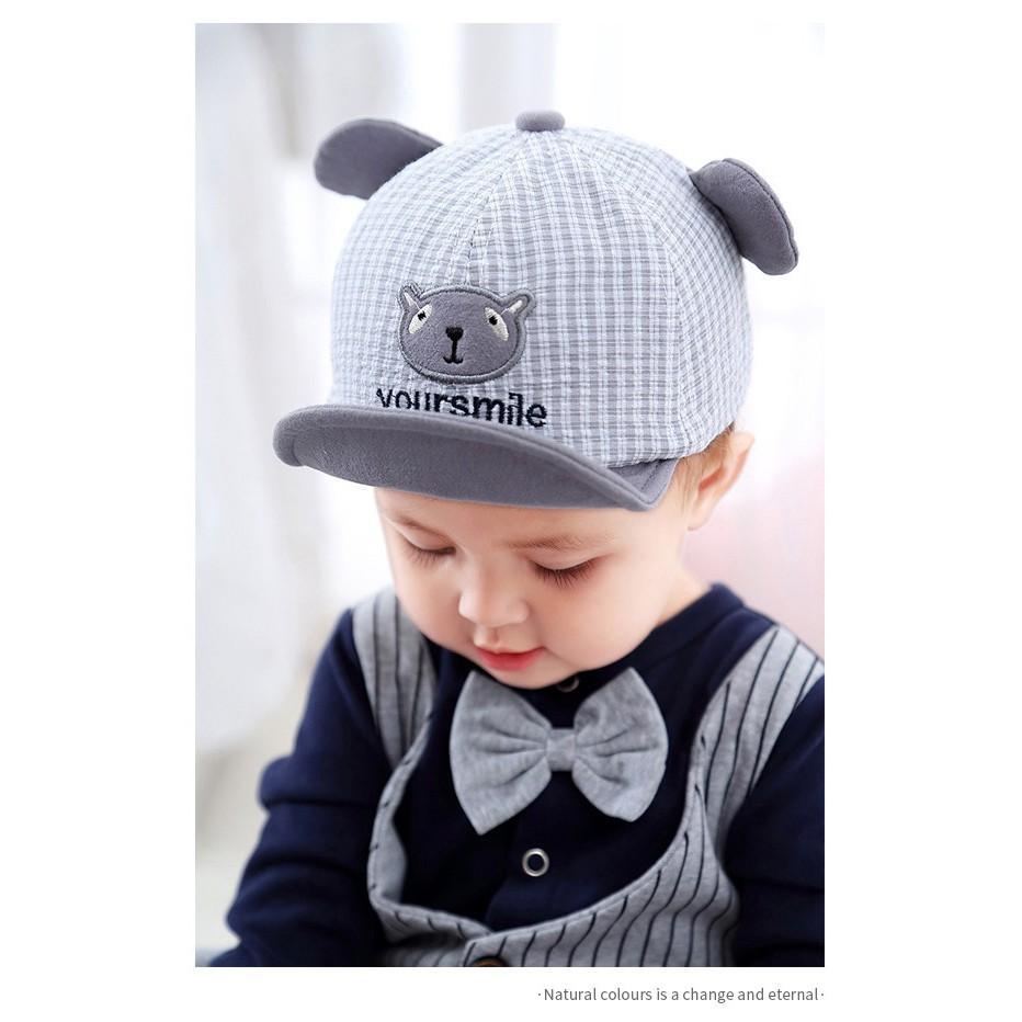 Mũ lưỡi trai kẻ sọc hoạ tiết dễ thương thời trang cho bé |Mũ trẻ em