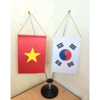 Đế cờ inox Việt – Hàn cờ đẹp, cán điều chỉnh