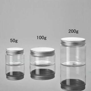 Hũ Nhựa Pet Nắp Nhôm Cao Cấp 50g 100g 200g Chiết Mỹ Phẩm - Hũ Đựng Kem thumbnail