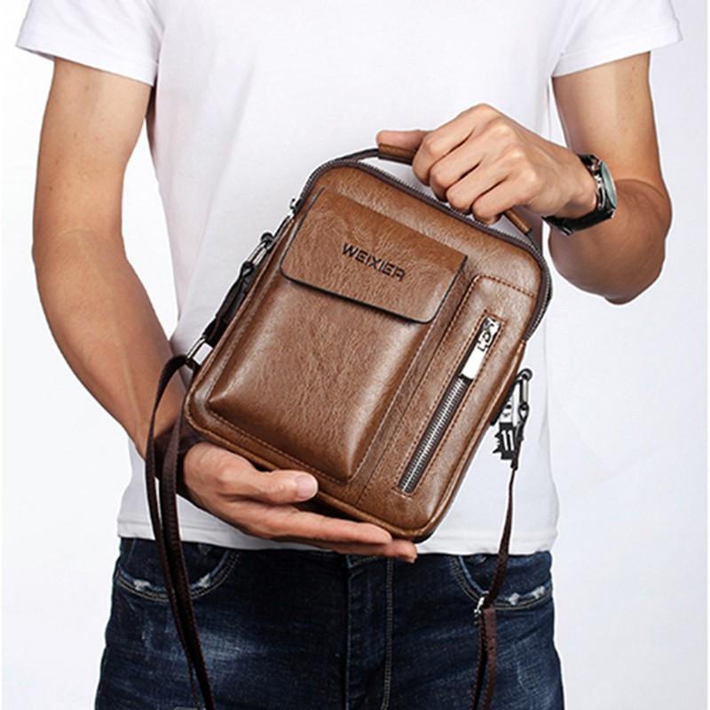 Túi đeo vai, túi đeo hông da PU, túi đeo chéo cao cấp nhiều ngăn tiện lợi thời trang TX8036