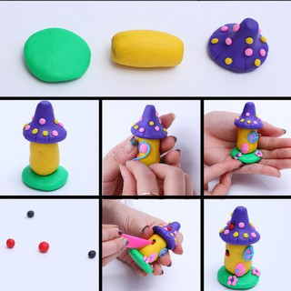 Kid Educational Toy Modeling 32 Colors Oven Bake Polymer Clay Block Set Gift