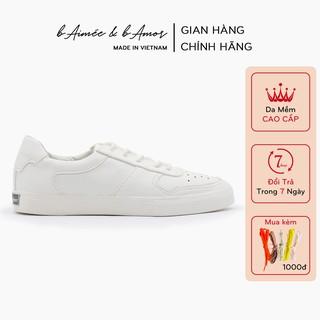 Giày thể thao nữ màu trắng đẹp dáng giày sneaker bata đế bằng cổ thấp thời trang bAimée & bAmor – MS1408